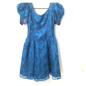 Vintage 1980's full lace prom dress